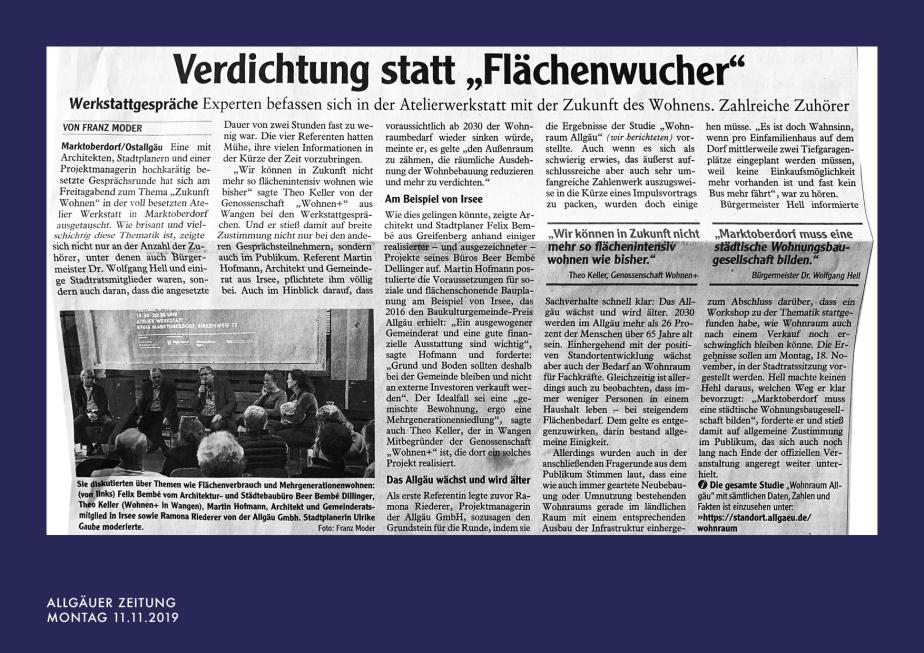 191111_AZMarktoberdorf - Verdichtung statt Flächenwucher, Wohnraum im Allgäu_